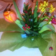 aranjament flori botez 7